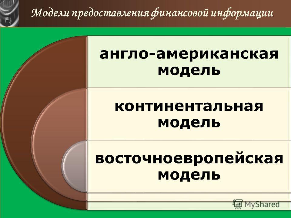 www.themegallery.com Модели предоставления финансовой информации англо-американская модель континентальная модель восточноевропейская модель