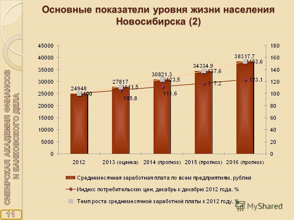 Основные показатели уровня жизни населения Новосибирска (2)