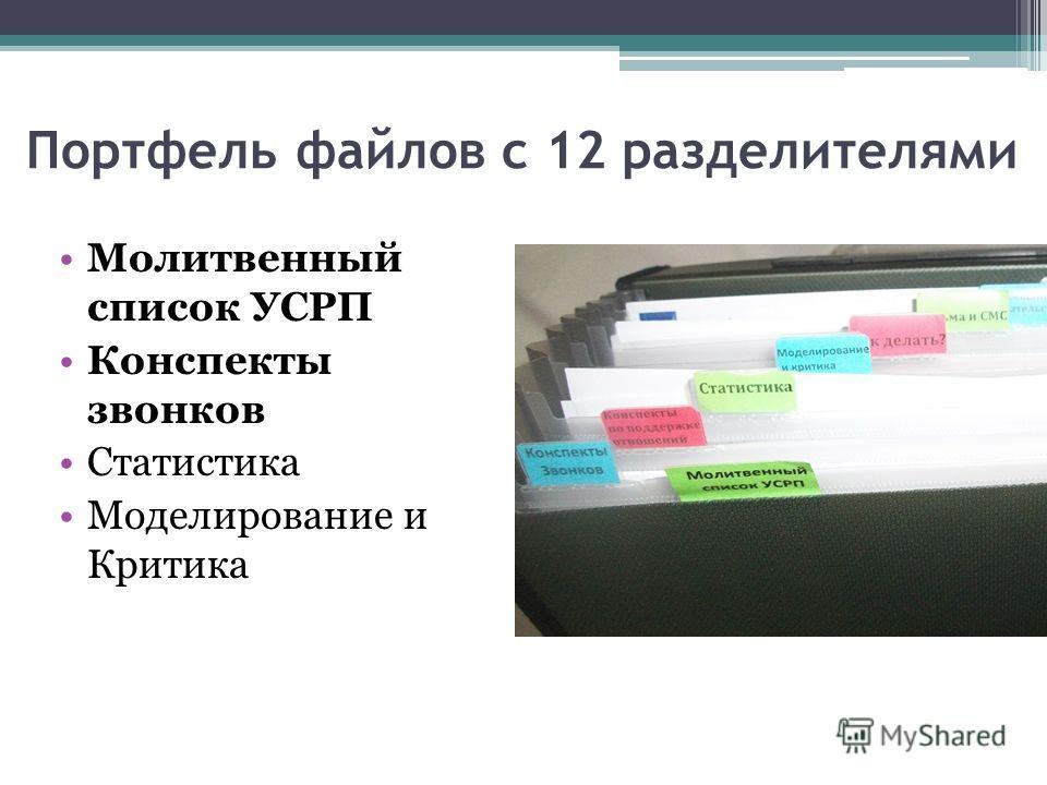 Молитвенный список УСРП Конспекты звонков Статистика Моделирование и Критика
