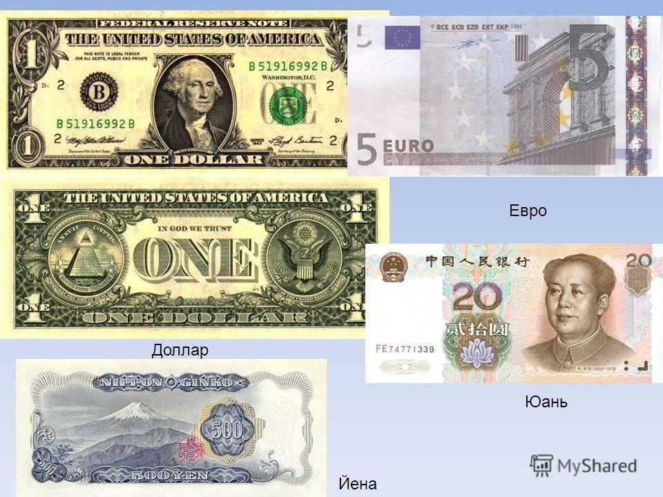 Доллар Евро Юань Йена