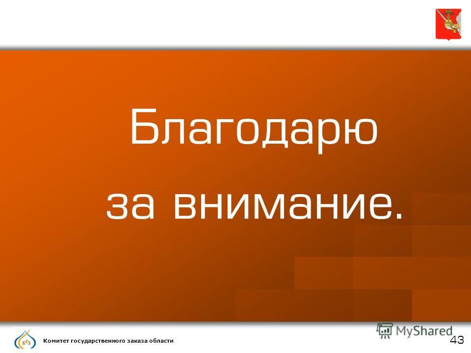 Комитет государственного заказа области 43 Благодарю за внимание.