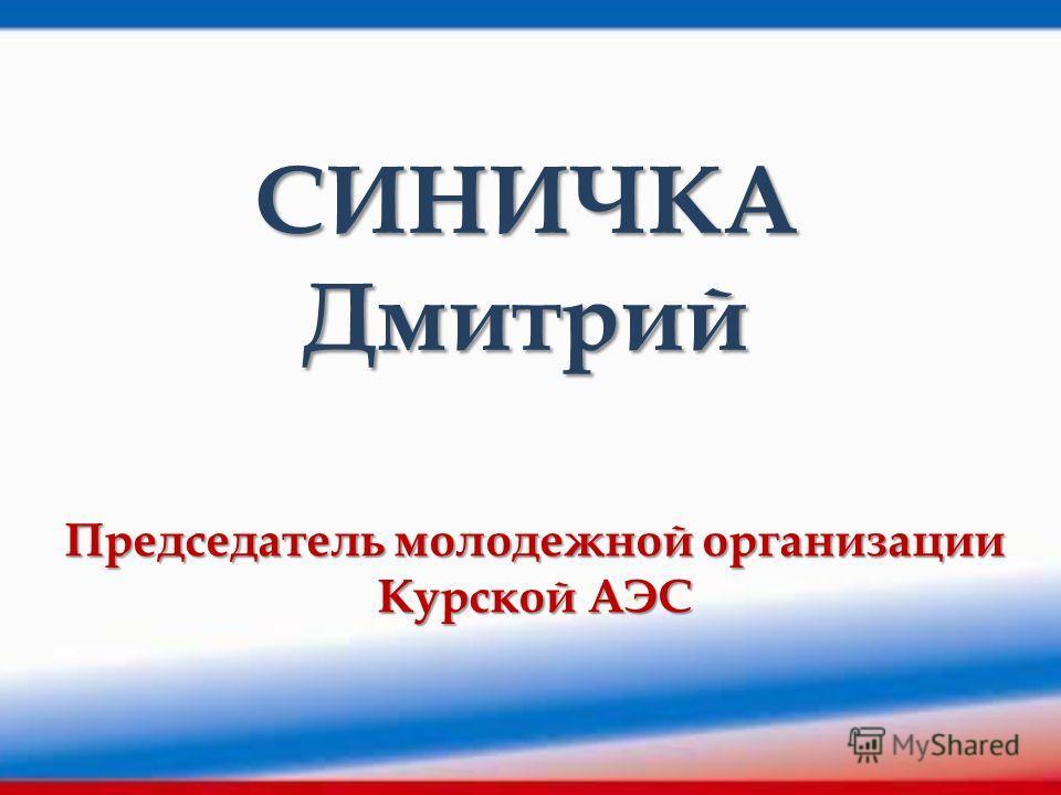 СИНИЧКА Дмитрий Председатель молодежной организации Курской АЭС