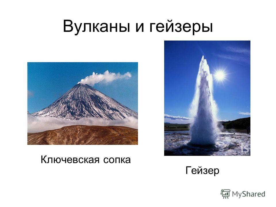 Вулканы и гейзеры Ключевская сопка Гейзер