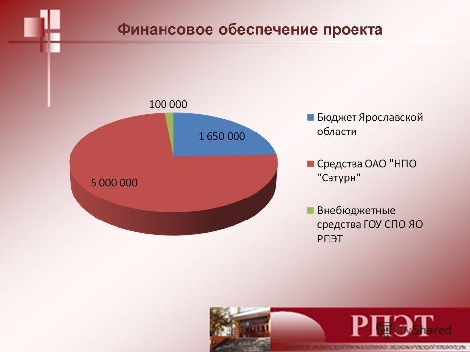 Финансовое обеспечение проекта