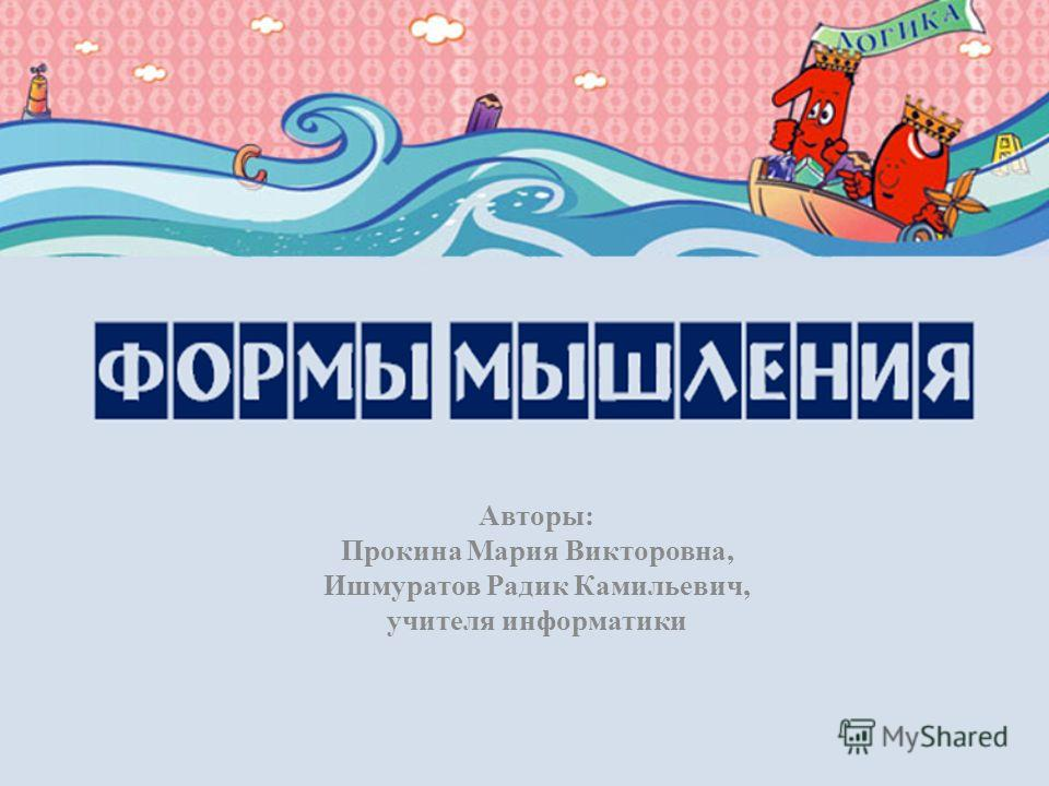 Авторы: Прокина Мария Викторовна, Ишмуратов Радик Камильевич, учителя информатики