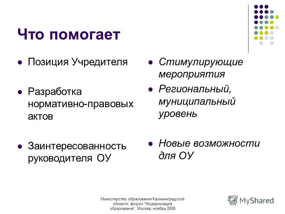 Министерство образования Калининградской области, форум