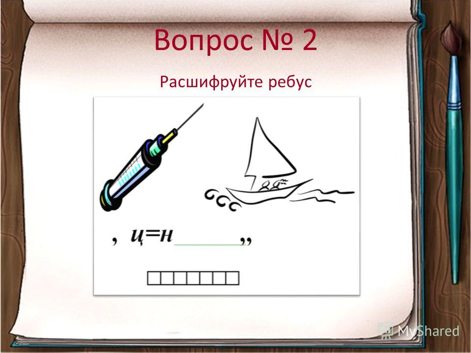 Вопрос 2 Расшифруйте ребус