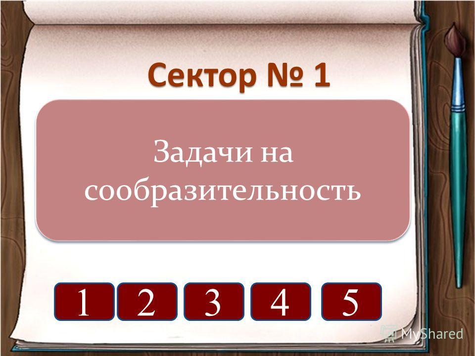 Сектор 1 Задачи на сообразительность 12345