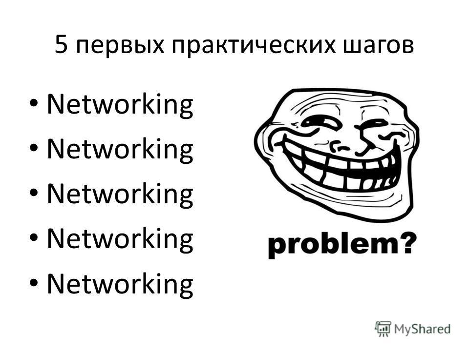 5 первых практических шагов Networking
