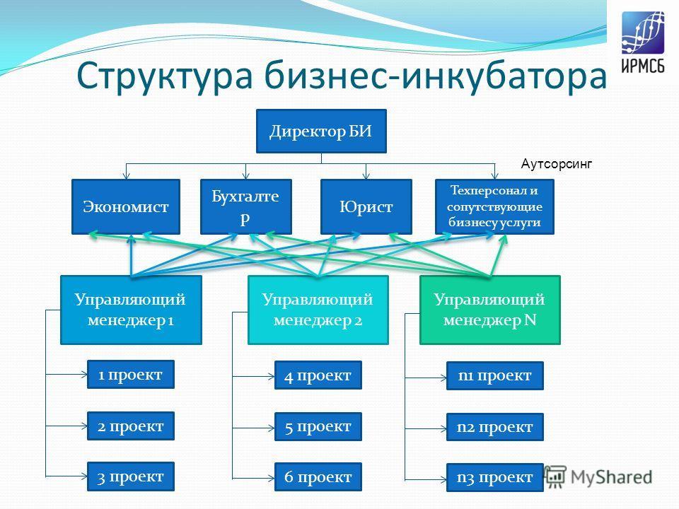 Структура бизнес-инкубатора