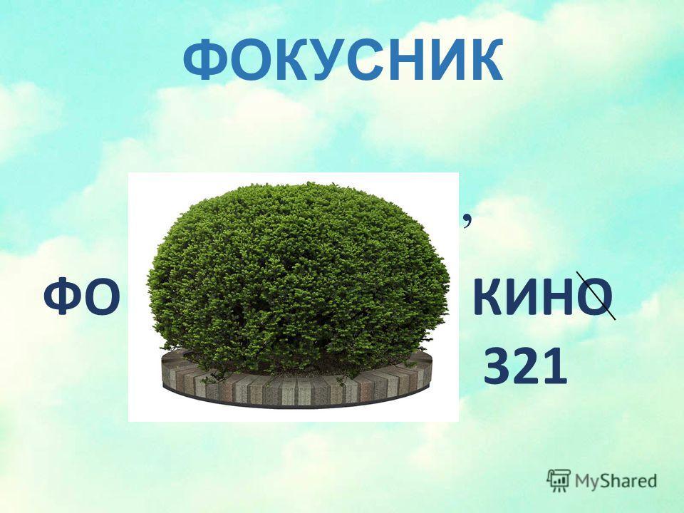 ФОКУСНИК, ФО КИНО 321