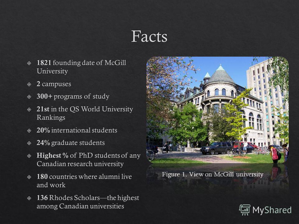 Figure 1. View on McGill university