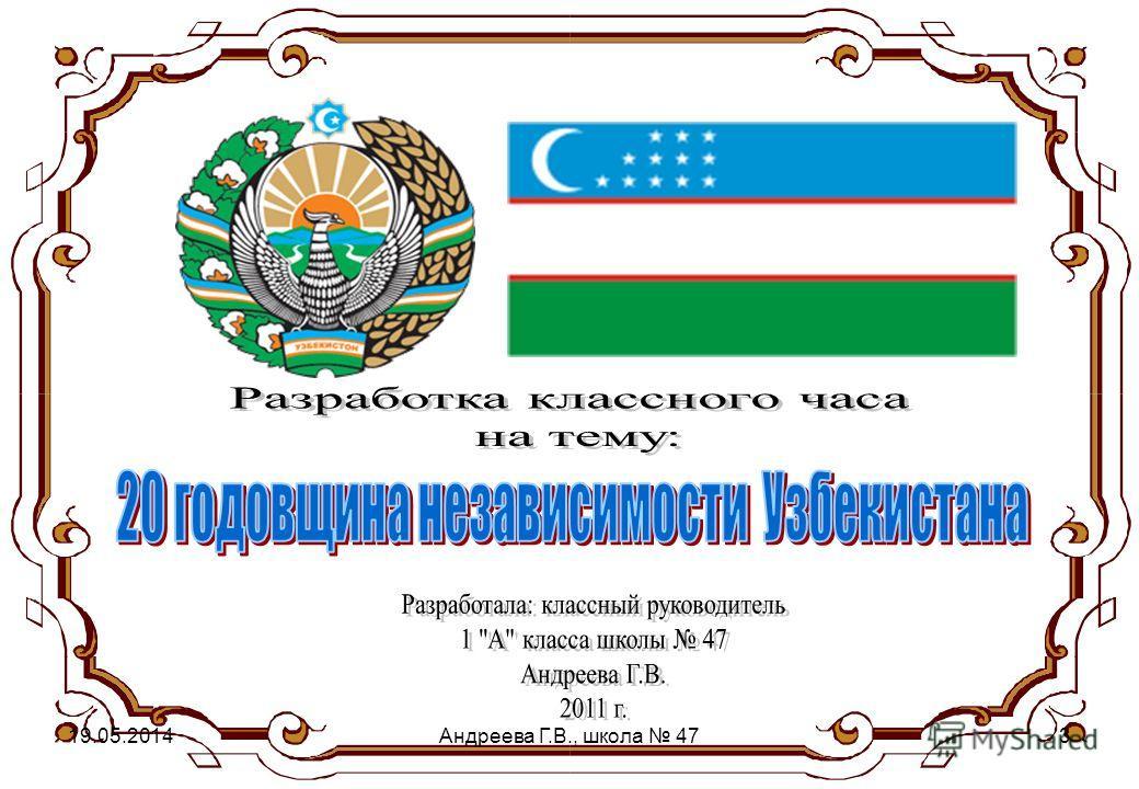 19.05.2014Андреева Г.В., школа 473