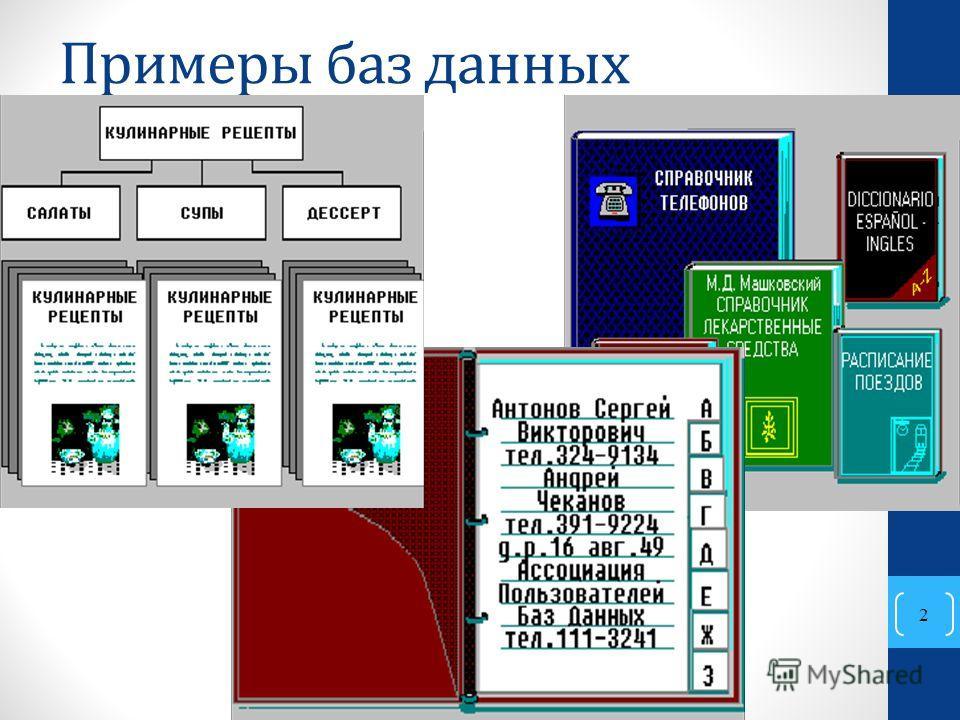 20.05.2014 Базы данных 2 Примеры баз данных