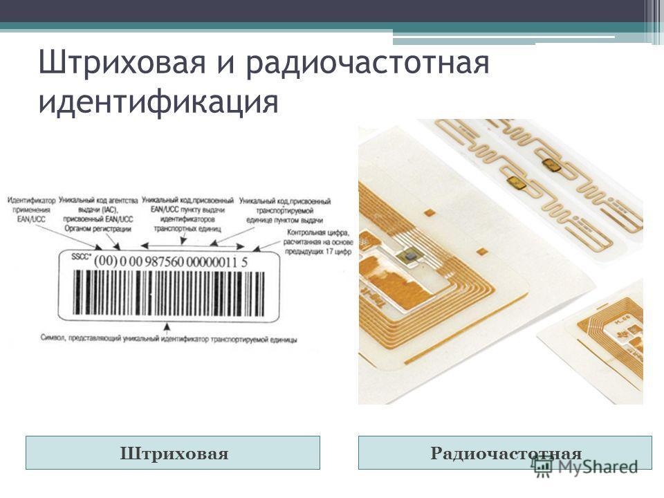 Штриховая и радиочастотная идентификация ШтриховаяРадиочастотная