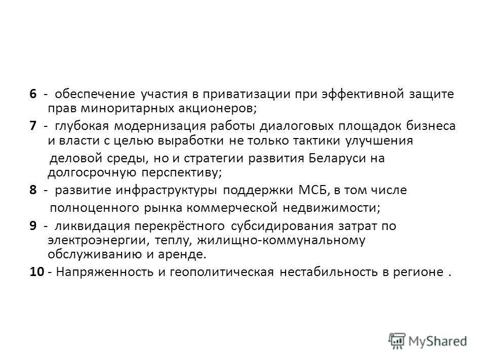 Основные вызовы для предпринимательства Беларуси в 2014 году – это: 1 - обеспечение доступа к заёмному капиталу и инвестициям; 2 - ликвидация дискриминационных практик со стороны монополистов и коммерческих субъектов, которые пользуются льготным режи