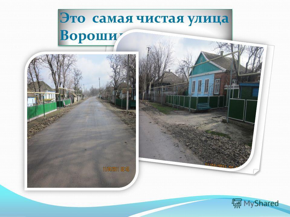 Это самая чистая улица Ворошилова
