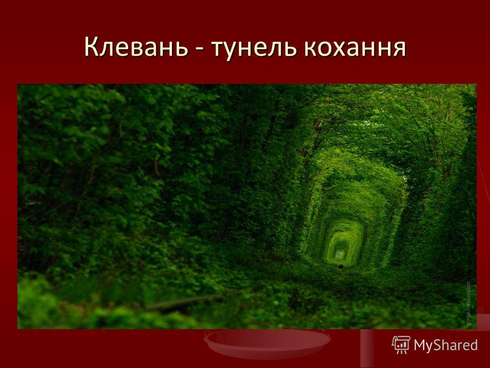 Клевань - тунель кохання