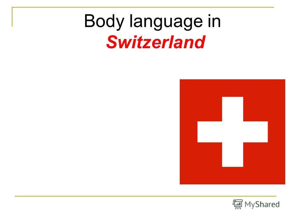 Body language in Switzerland