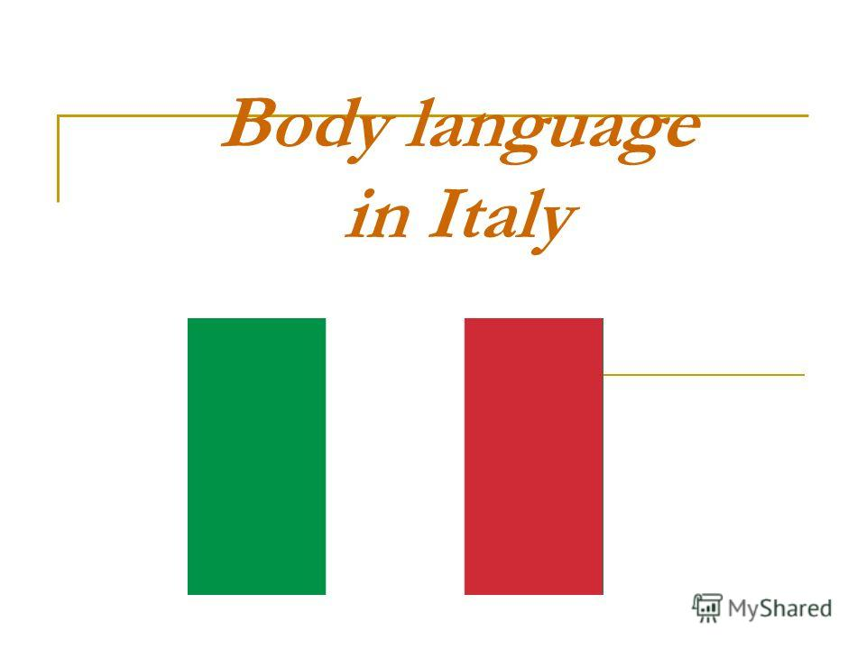 Body language in Italy