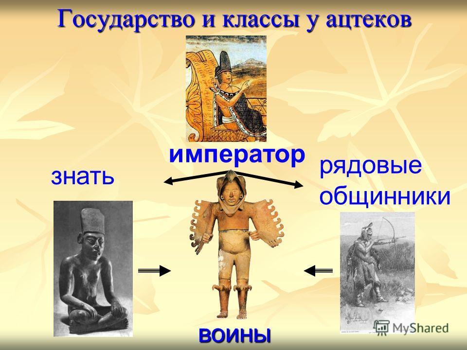 император рядовые общинники знать Государство и классы у ацтеков воины