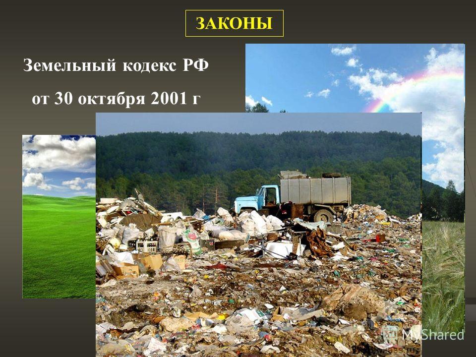 Земельный кодекс РФ от 30 октября 2001 г ЗАКОНЫ