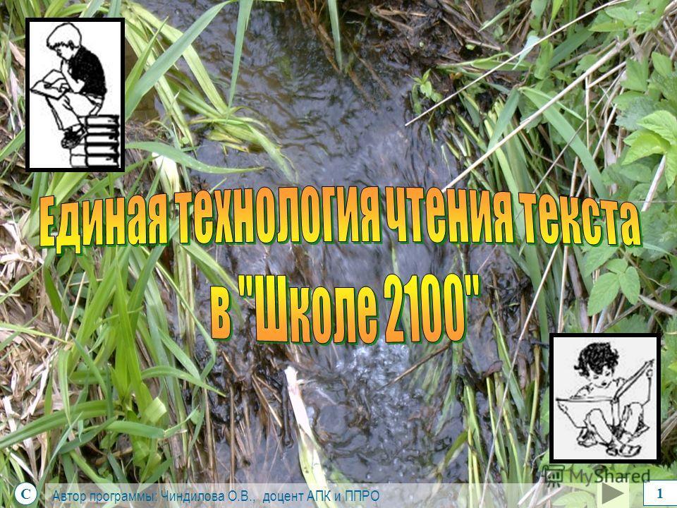 С Автор программы: Чиндилова О.В., доцент АПК и ППРО 1