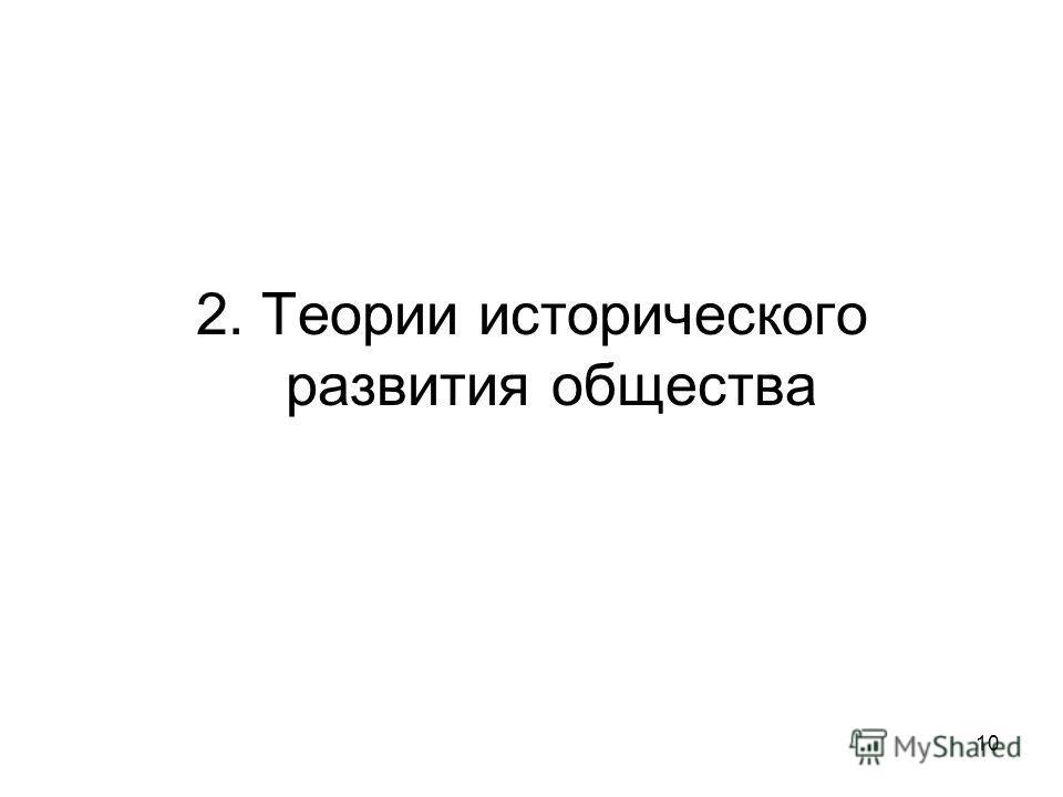 10 2. Теории исторического развития общества