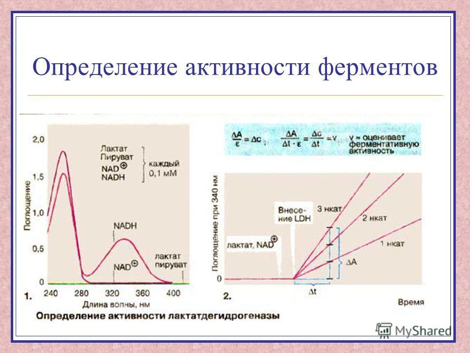 Определение активности ферментов