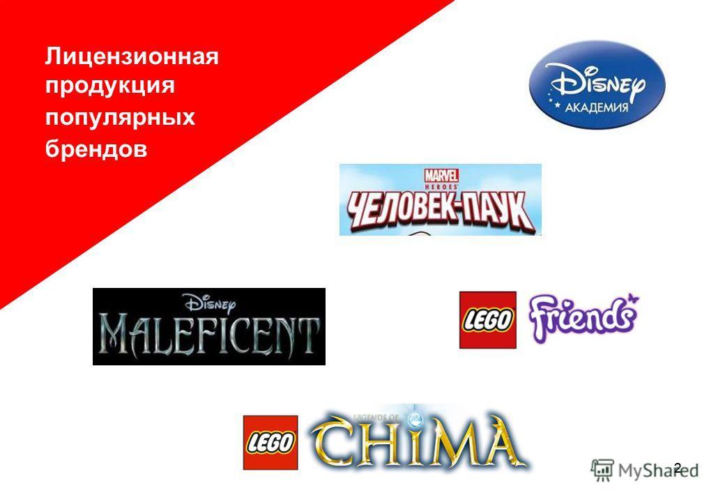 22 Лицензионная продукция популярных брендов Лицензионная продукция популярных брендов