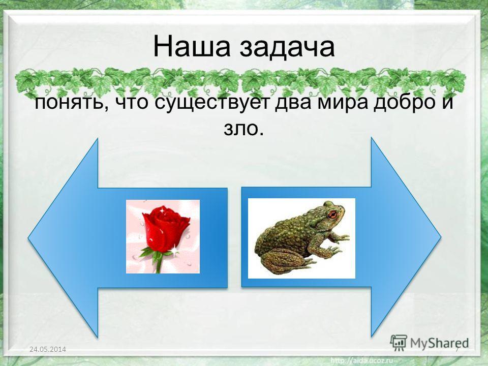 Игра «Сходство – различие» Объясните, в чем сходство и различие розы и жабы? 1.Роза и жаба росли в саду. 2. Розе и жабе нужно питание, солнце. прохлада, вода. 3. Роза – красавица, жаба – уродлива. 24.05.20146