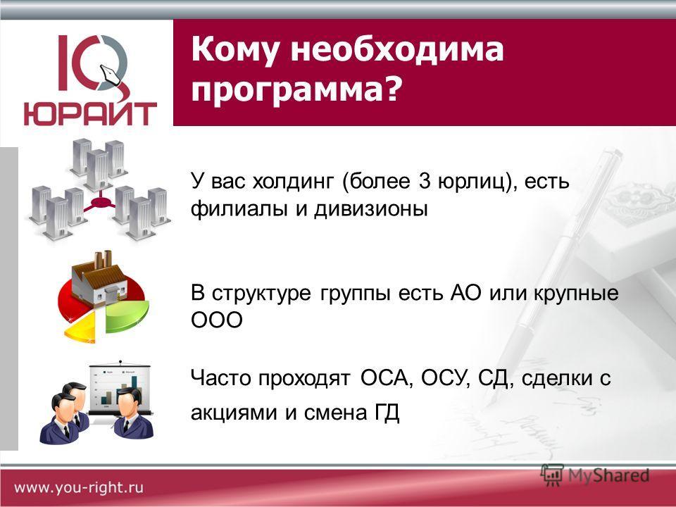 ЮРАЙТ: Дела и задачи Программа для управления исками, претензиями и делами в госорганах