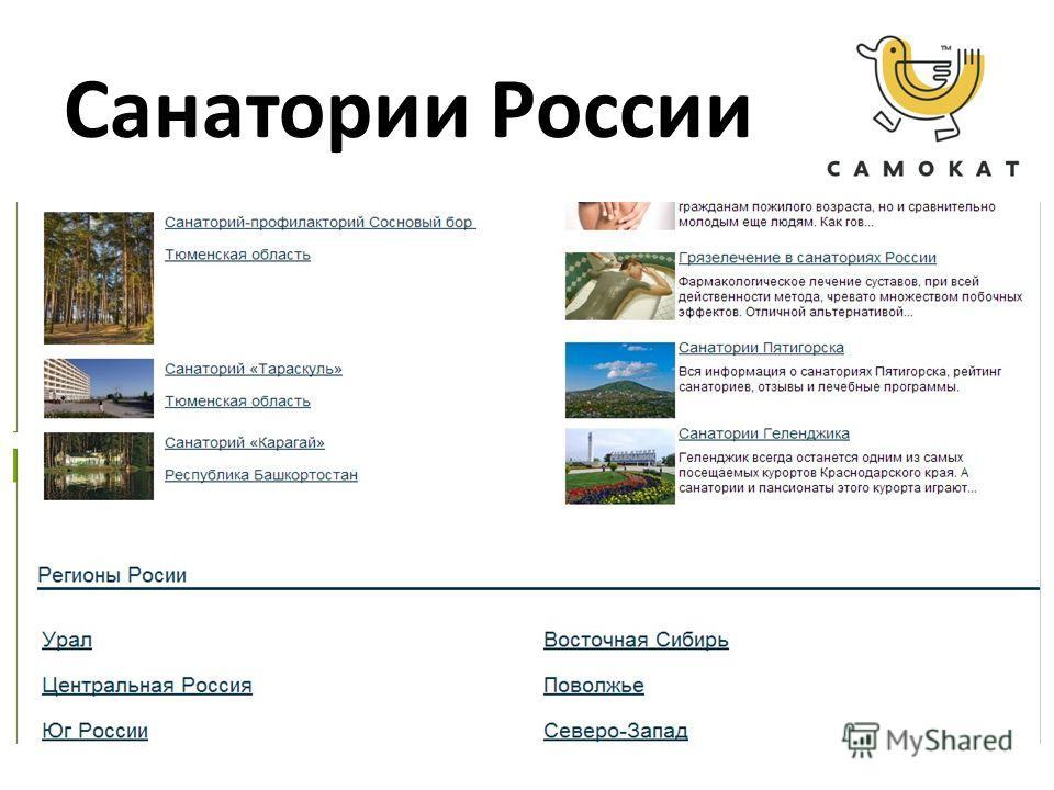Санатории России р