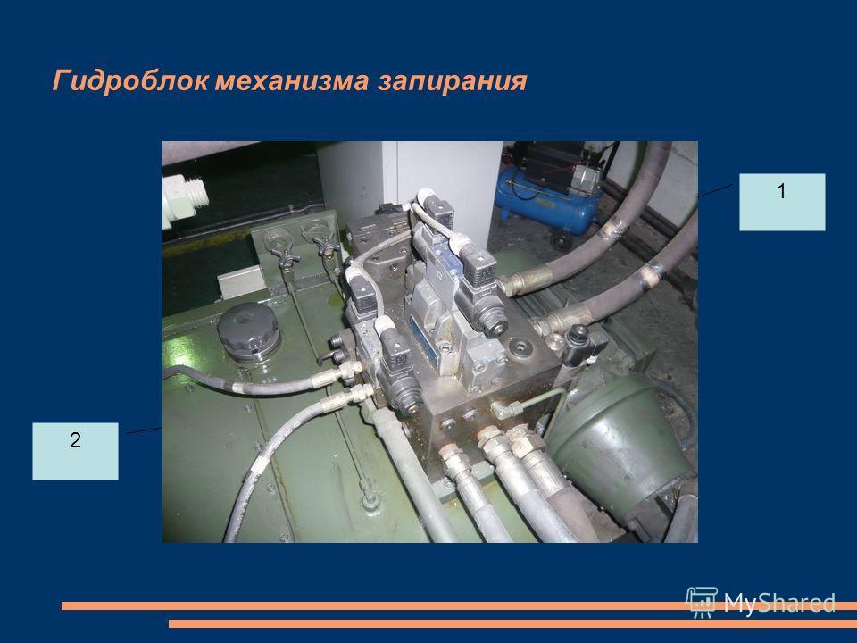 Гидроблок механизма запирания 1 2