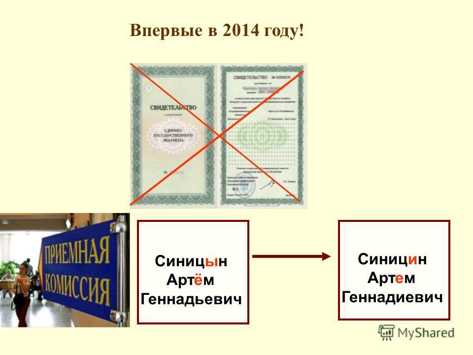 Впервые в 2014 году! Синицын Артём Геннадьевич Синицин Артем Геннадиевич