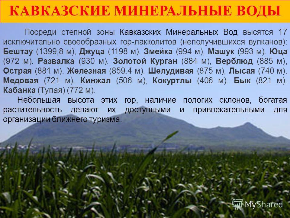 Доклад на тему: «Горы Кавказских Минеральных Вод»
