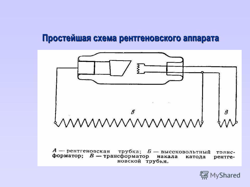 Простейшая схема рентгеновского аппарата