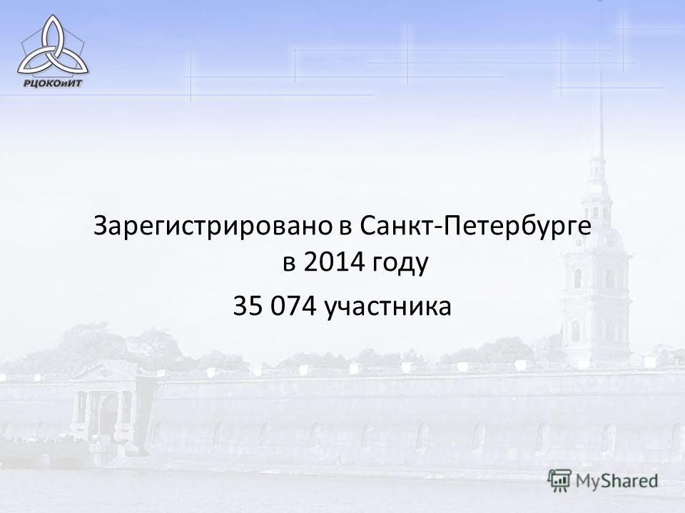 Зарегистрировано в Санкт-Петербурге в 2014 году 35 074 участника