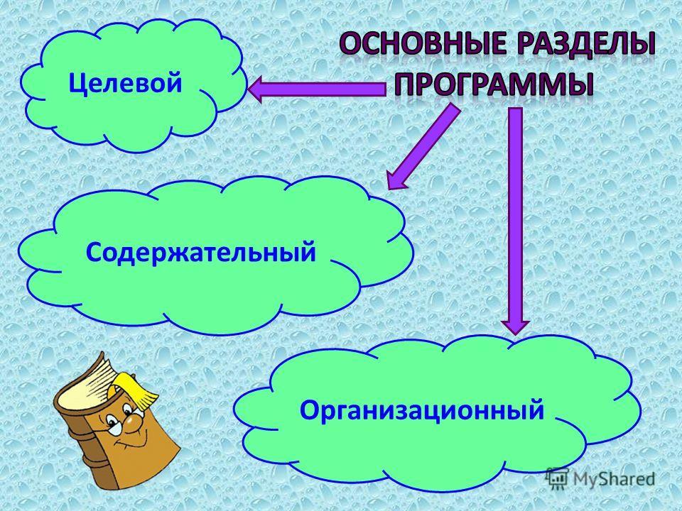 Целевой Содержательный Организационный