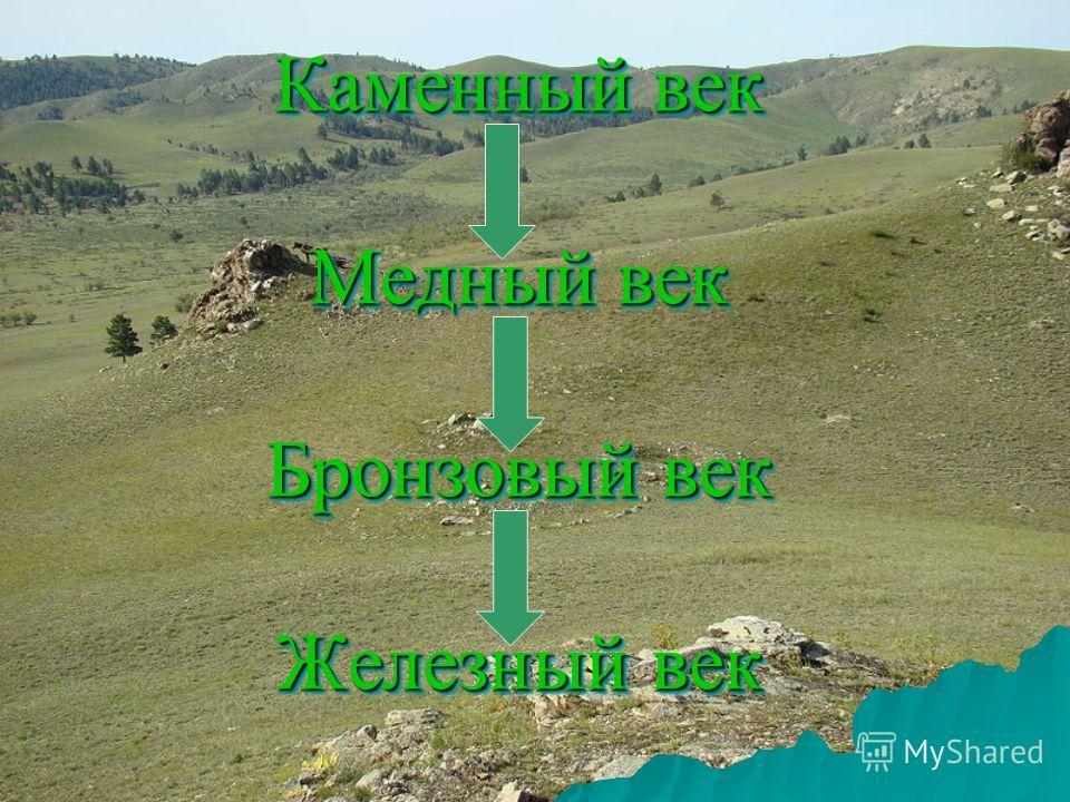 Каменный век Медный век Бронзовый век Железный век