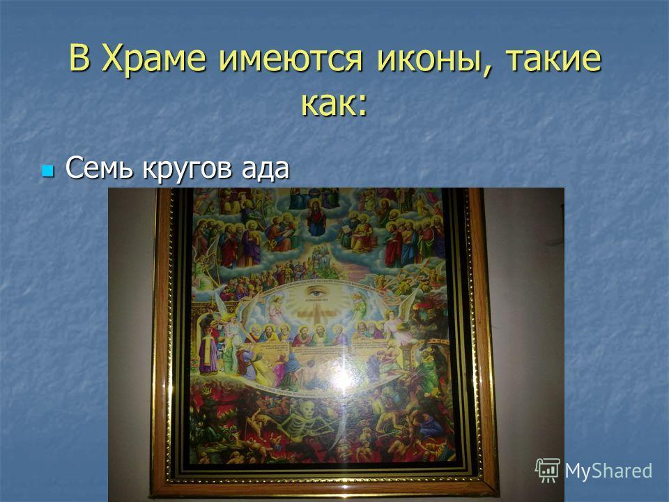 Главное место Храма – иконостас