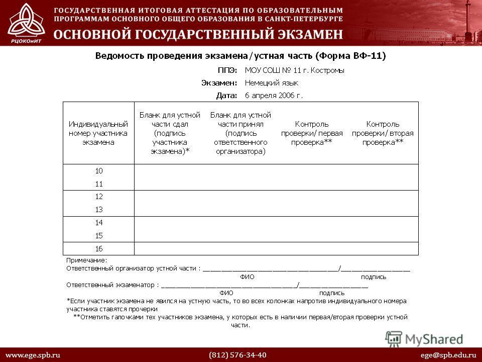 www.ege.spb.ru (812) 576-34-40 ege@spb.edu.ru