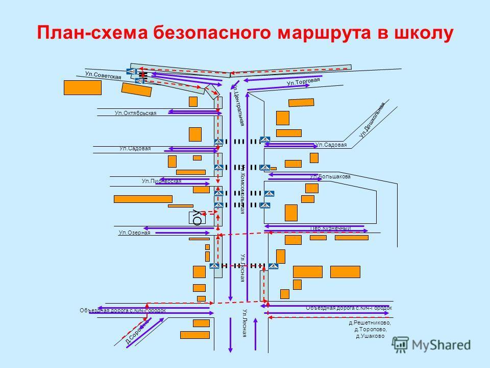 План-схема безопасного маршрута в школу