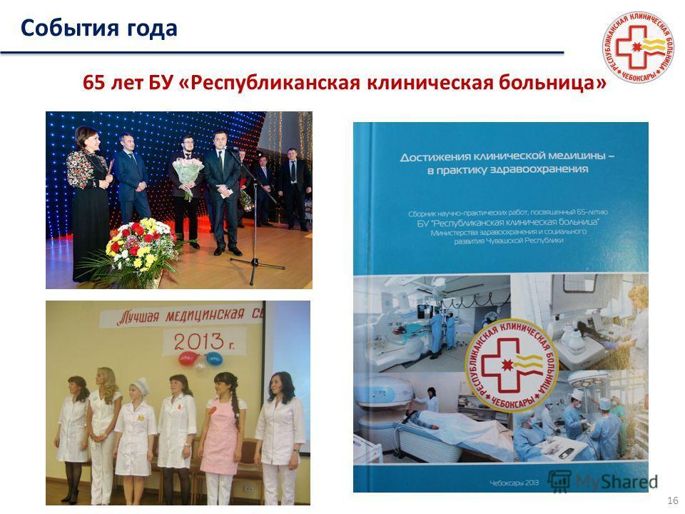 65 лет БУ «Республиканская клиническая больница» 16 События года