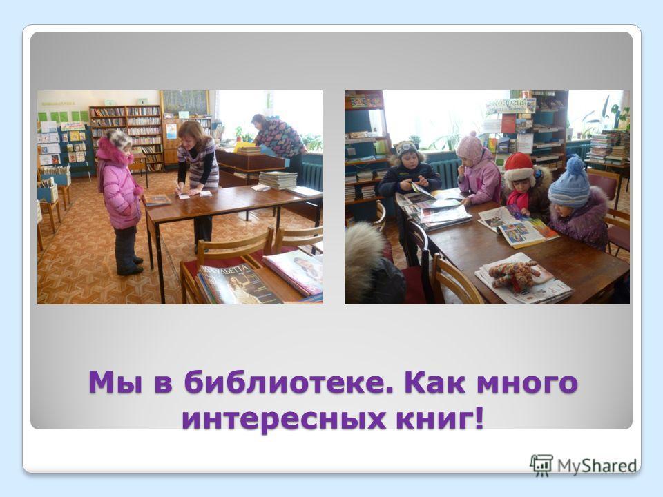 Мы в библиотеке. Как много интересных книг!
