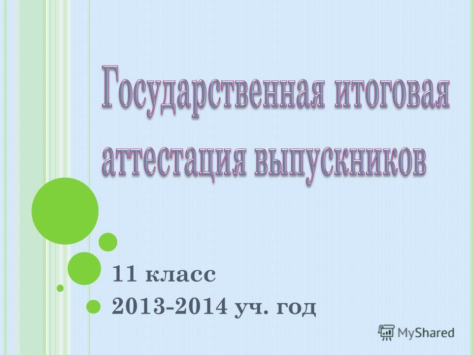 11 класс 2013-2014 уч. год