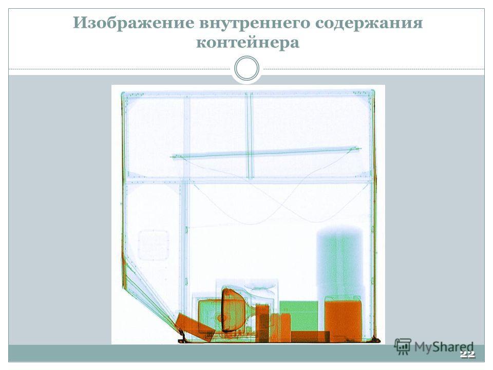 Изображение внутреннего содержания контейнера 22