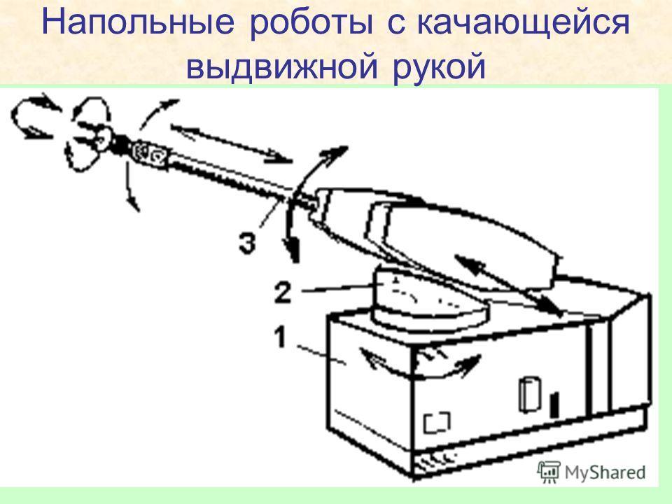 Напольные роботы с качающейся выдвижной рукой