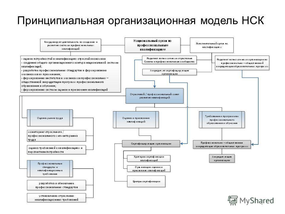 Принципиальная организационная модель НСК 4