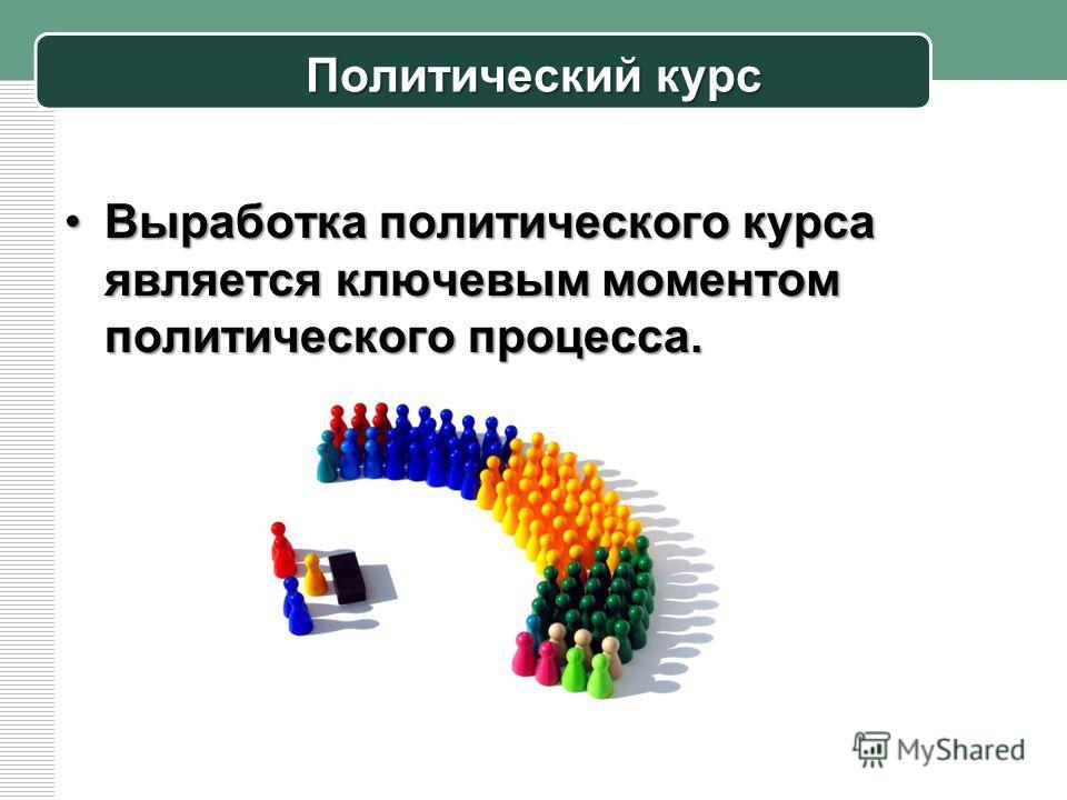 Политический курс Выработка политического курса является ключевым моментом политического процесса.Выработка политического курса является ключевым моментом политического процесса.